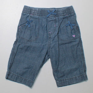 OSH KOSH LIGHT DENIM PANTS 12M EUC