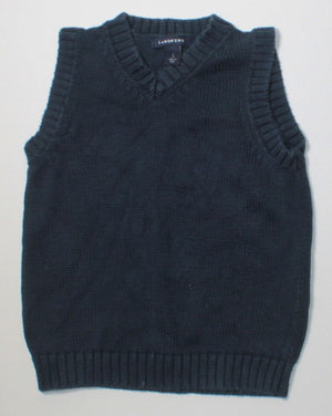 LANDS END NAVY KNIT VEST 4T EUC
