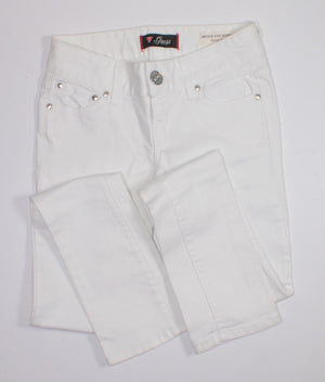 GUESS WHITE JEANS SARAH FIT MEDIUM RISE SKINNY LADIES SIZE 24 EUC