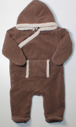 OLD NAVY BROWN THICK ONE PIECE 3-6M EUC