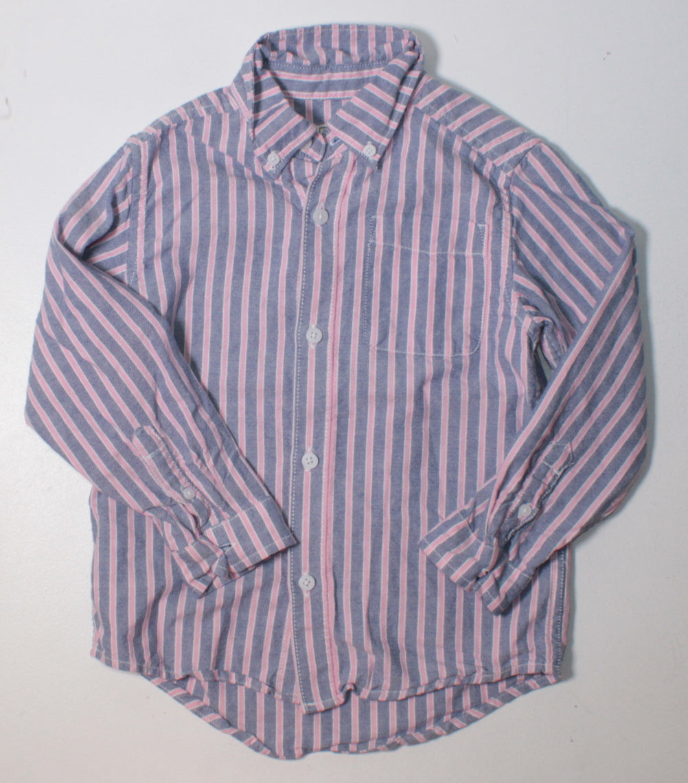 TCP PINK & BLUE STRIPED DRESS SHIRT 5Y EUC