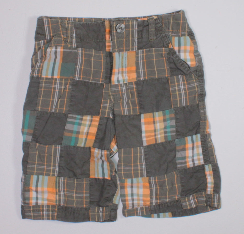 GYMBOREE PLAID SHORTS 7Y EUC