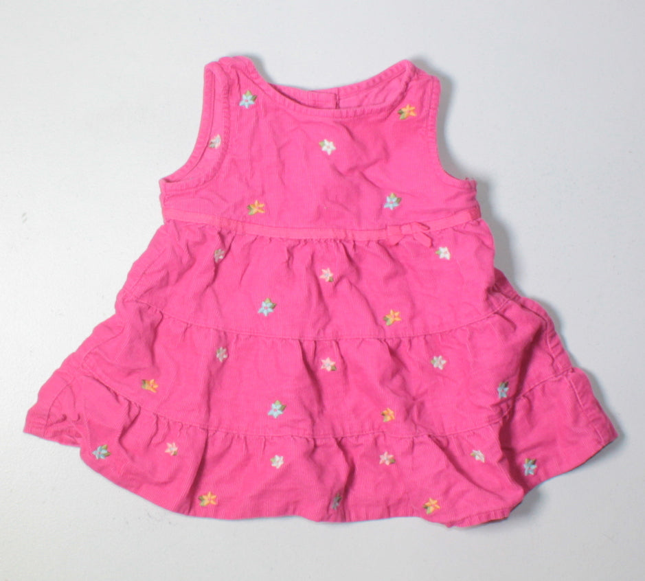 GYMBOREE FLORAL CORDUROY DRESS 0-3M VGUC/EUC