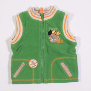 DISNEY POOH BEAR VEST FLEECE 6M VGUC