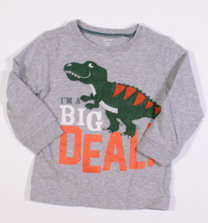 CARTERS DINO LS TOP 18M EUC