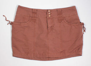 SMART SET BROWN SKORT LADIES SIZE 8 EUC