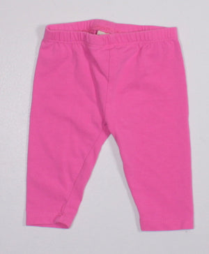 OSH KOSH PINK CROPPED LEGGINGS 3-6M EUC