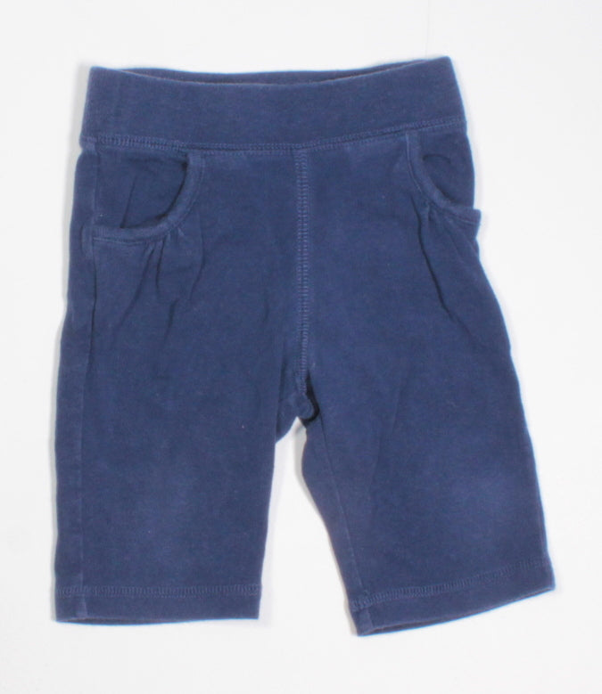 OLD NAVY BLUE CAPRI PANTS 12-18M VGUC