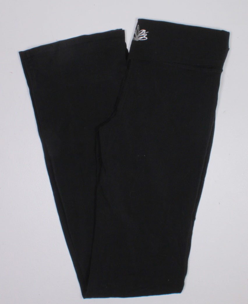 GEORGE BLACK YOGA PANTS LADIES SMALL EUC