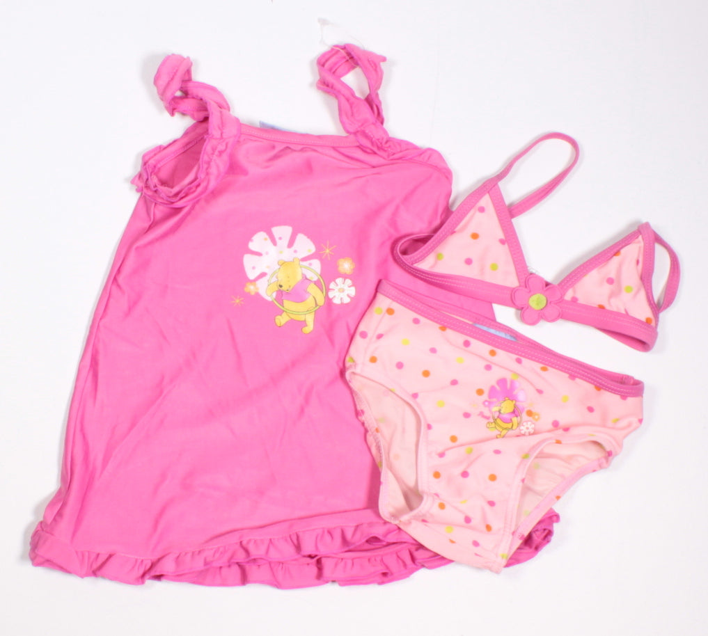 e993f23ff7900 DISNEY POOH BEAR 3 PIECE SWIMSUIT 3-6M EUC/VGUC - Betty's Consignment
