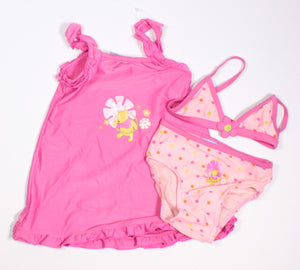 DISNEY POOH BEAR 3 PIECE SWIMSUIT 3-6M EUC/VGUC