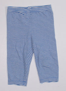 CARTERS BLUE STRIPED COTTON PANTS 12M EUC