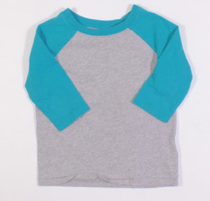 OLD NAVY GREY AND BLUE L/S SHIRT 2Y VGUC