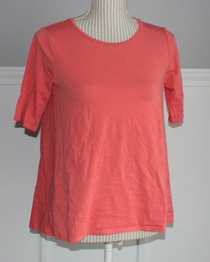 SUPER SOFT STRETCHY ORANGE TEE LADIES SMALL EUC