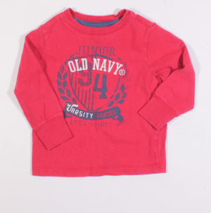 OLD NAVY RED L/S SHIRT 2Y VGUC