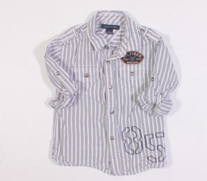 TOMMY HILFIGER BLUE AND WHITE STRIP SHIRT 2Y VGUC