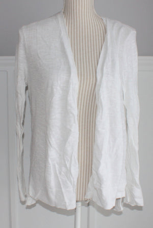 JOE FRESH WHITE CARDIGAN LADIES LARGE EUC