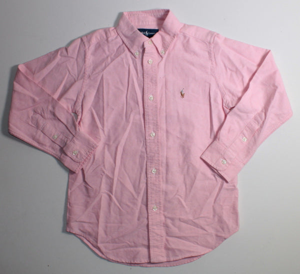 RALPH LAUREN SALMON LONG SLEEVE DRESS SHIRT 6YR NWT