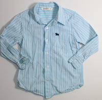 OLD NAVY BLUE STRIPED DRESS SHIRT LONG SLEEVE 5-6YR VGUC