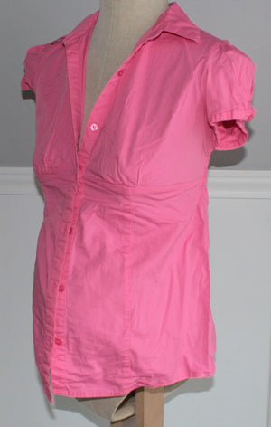 MOTHERHOOD MATERNITY PINK TOP LADIES SMALL EUC
