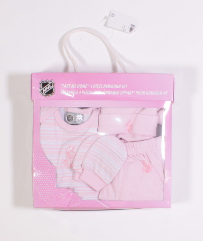 NHL OTTAWA SENATORS PINK NEWBORN SET NEW!