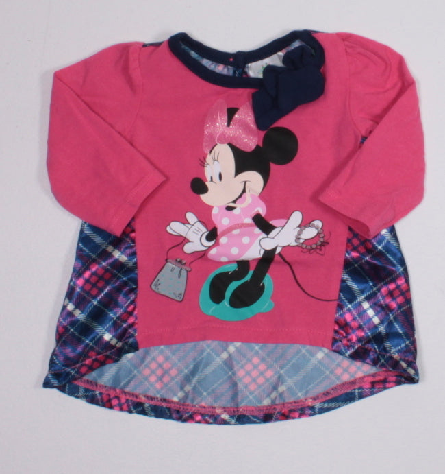 DISNEY MINNIE TOP 0-3M EUC