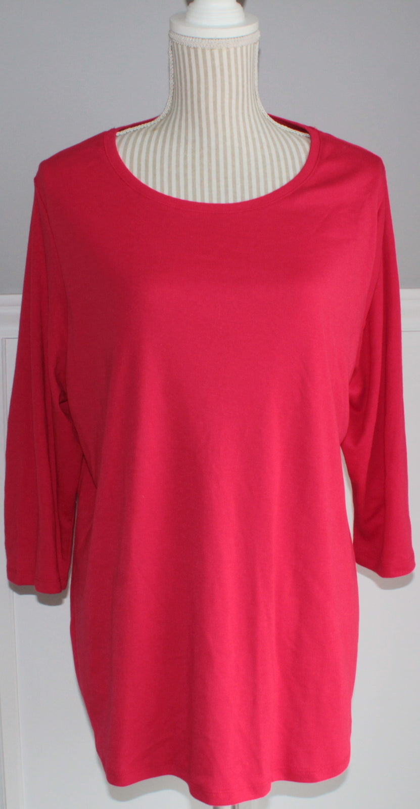 GEORGE RED MATERNITY TOP LADIES MED VGUC