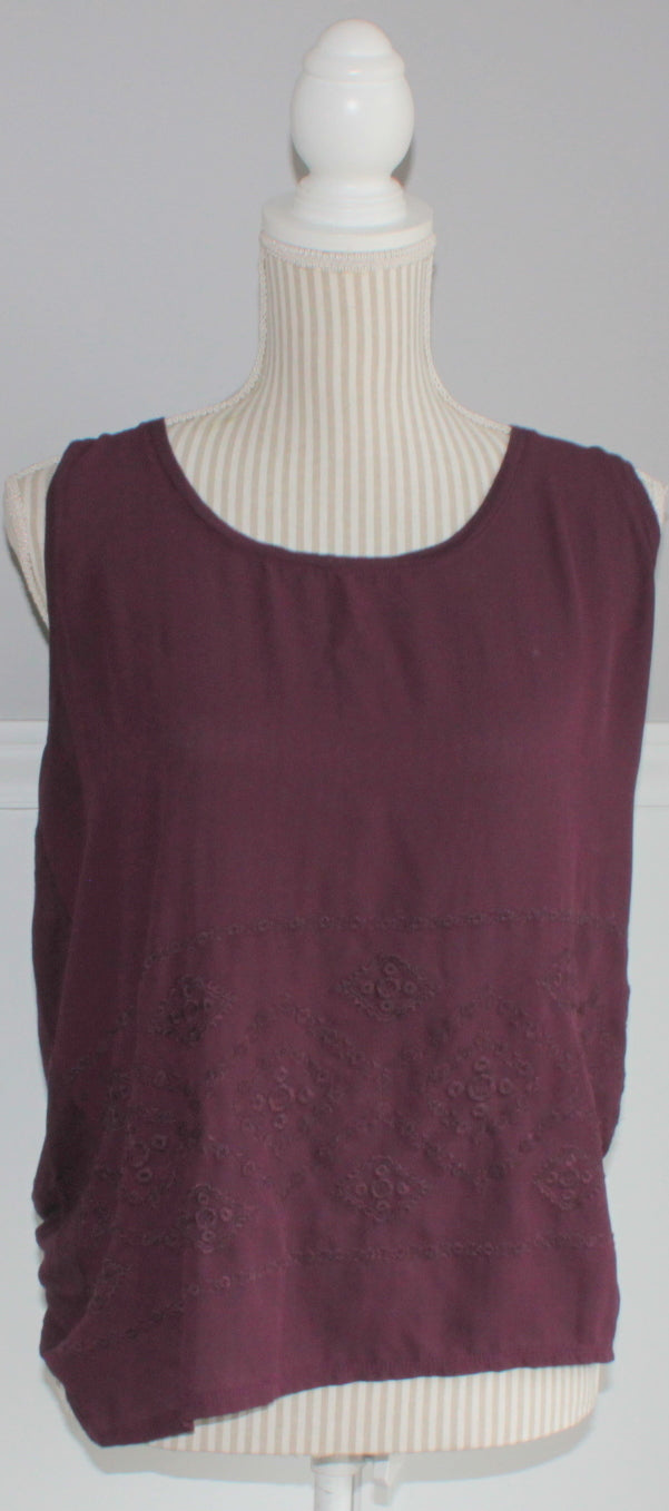 SMART SET WINE TANK LADIES LARGE VGUC