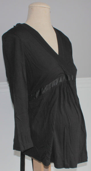 DAVID BRADLEY BLACK LS MATERNITY TOP SMALL NWT