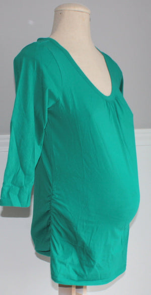 GEORGE MATERNITY GREEN TOP SMALL VGUC