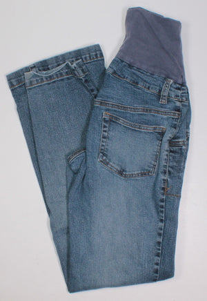 THYME MATERNITY JEANS WITH PANEL LADIES XS VGUC