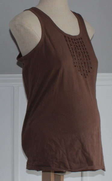 OLD NAVY TANK TOP BROWN MATERNITY LARGE VGUC/EUC