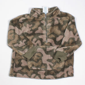 WONDERKIDS FLEECE CAMO SWEATER 18M EUC
