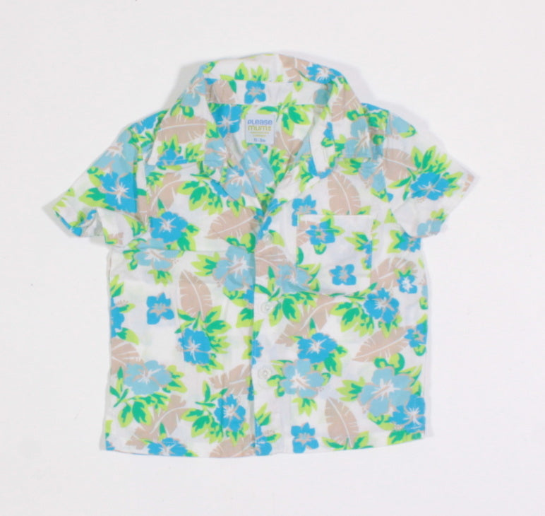 PLEASE MUM TROPICAL SL TOP 0-3M EUC