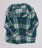 CARTERS PLAID TOP 6M EUC