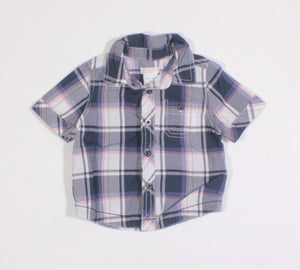 JOE FRESH PLAID SL TOP 3-6M EUC