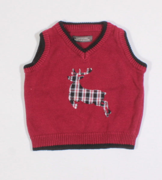 HOLIDAY VEST 3-6M EUC