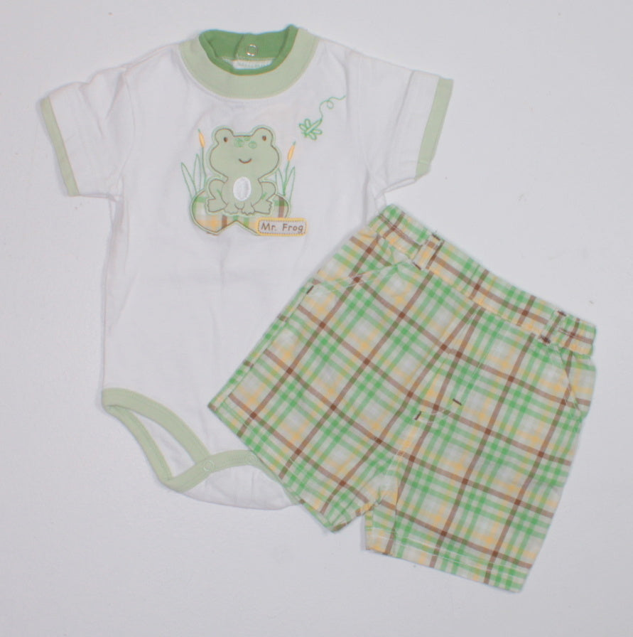 MR FROG OUTFIT 0-3M EUC
