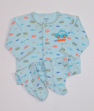 CARTERS CARS COTTON PJS 3M EUC
