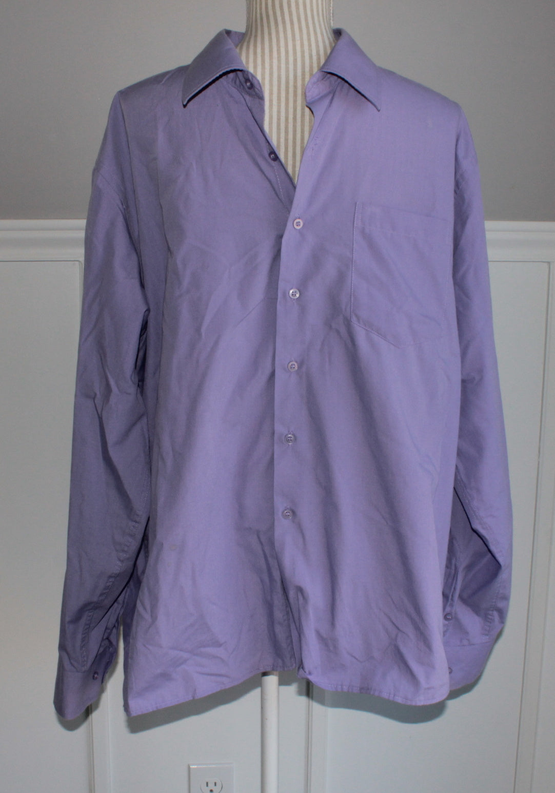 GIOVANNI MENS PURPLE DRESS SHIRT XL EUC