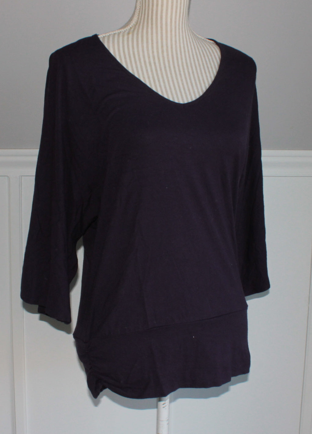 CLEO DARK PURPLE TOP LADIES XS EUC
