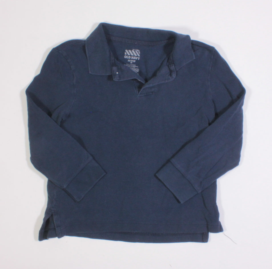 OLD NAVY DARK BLUE LS TOP 5Y VGUC
