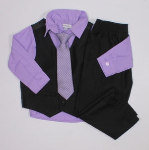 NEWBERRY LILAC DRESSY OUTFIT 24M EUC