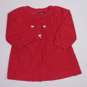 GAP CORDUROY HOLIDAY DRESS 12-18M EUC