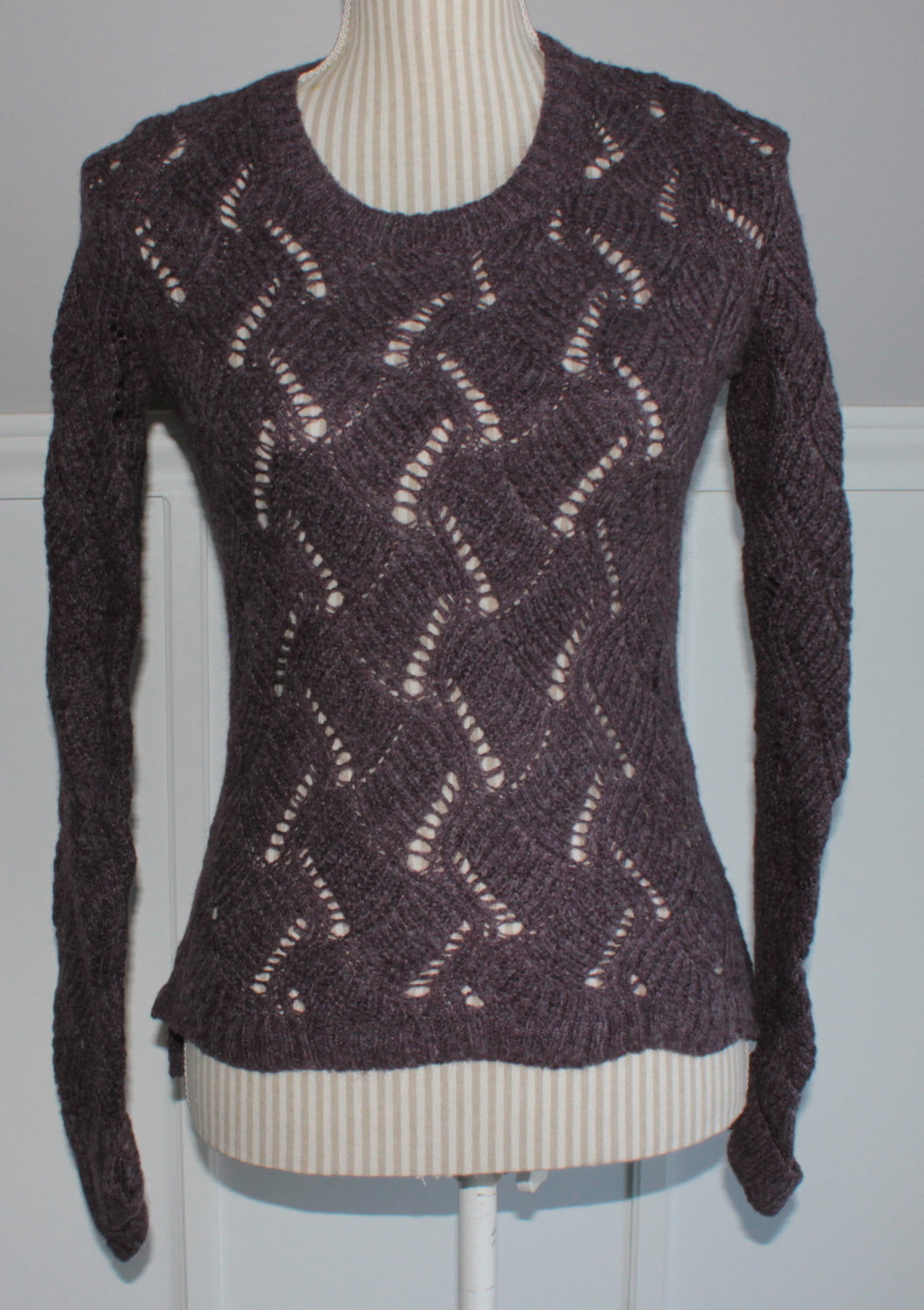 GEORGE PURPLE SWEATER LADIES XS