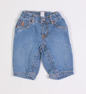 GAP JERSEY LINED JEANS 3-6M EUC