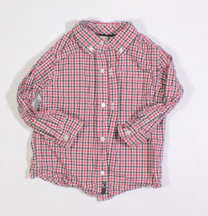 GYMBOREE PLAID DRESS SHIRT 2T EUC