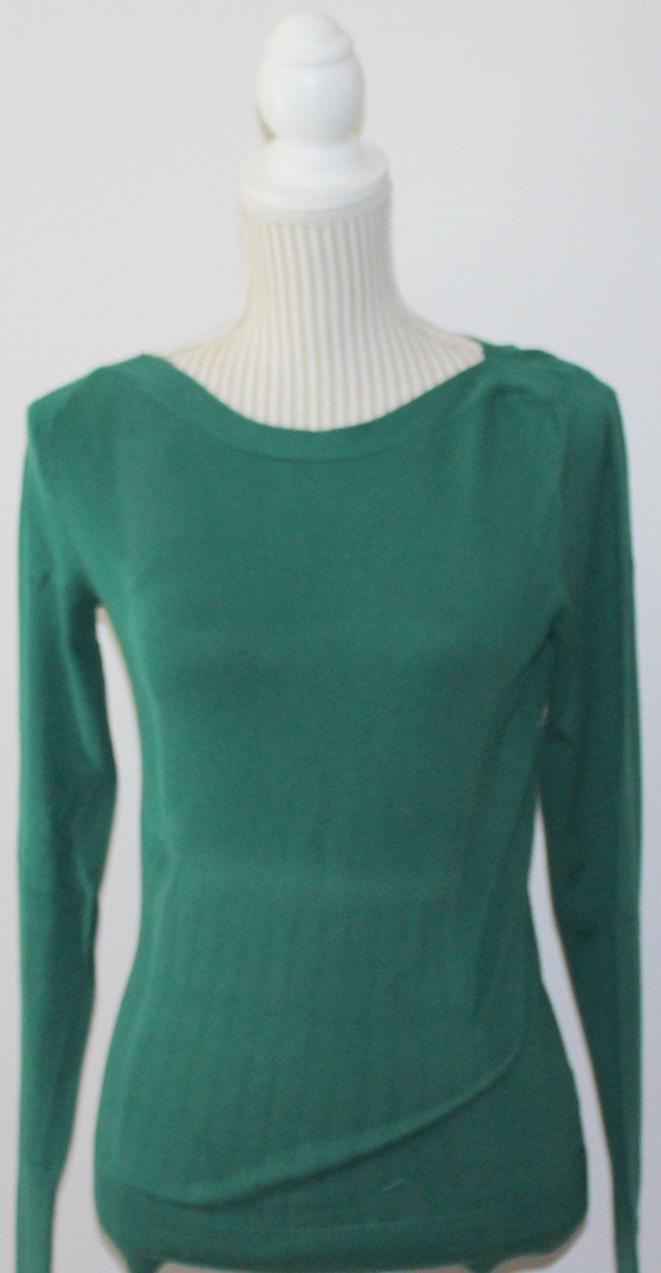 JACOB LS GREEN TOP LADIES SMALL VGUC