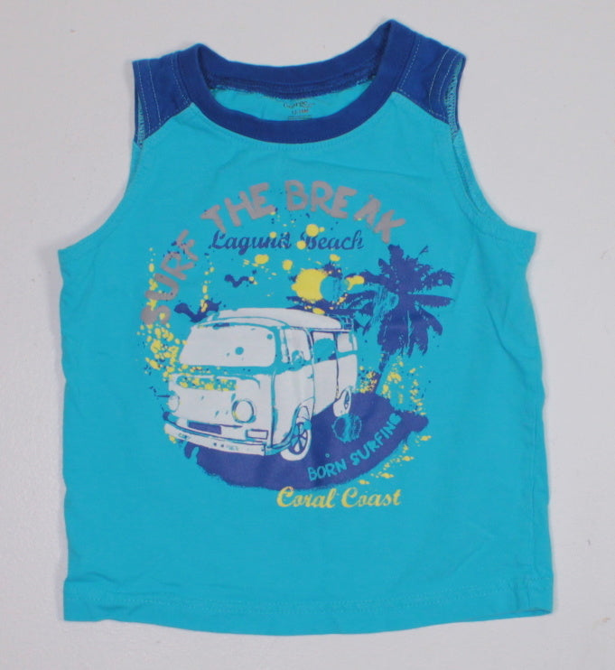 GEORGE BLUE TANK TOP 12-18M EUC
