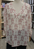 FLORAL BLOUSE APPROX LADIES SMALL VGUC/EUC